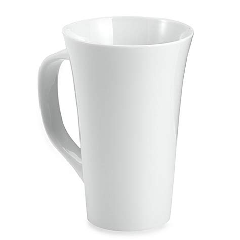 bed bath and beyond coffee mugs everyday white 174 by fitz and floyd 174 16 oz rim latte mugs