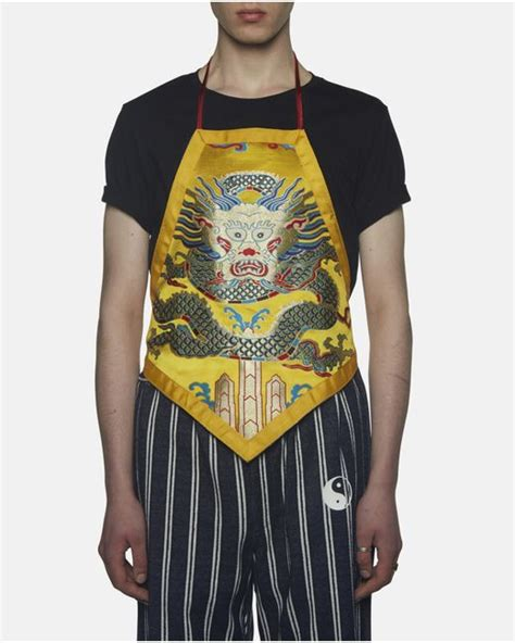 apron vest pattern xander zhou chinese pattern silk apron vest in yellow for