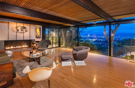 living room hollywood james woods selling marvelous mid century modern home in