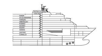 cat 233 gories et cabines du bateau costa luminosa costa