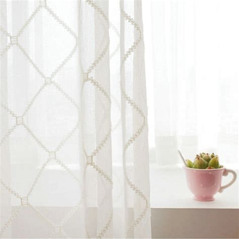 (One Panel)European Sheer Curtains Advanced Customization