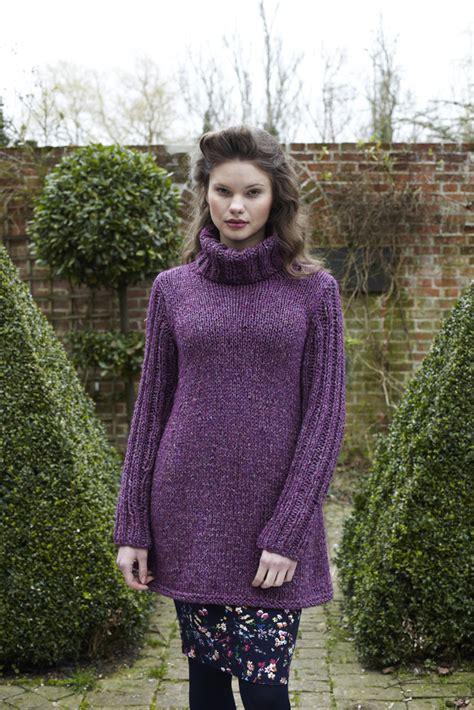 rib sleeved dress  debbie bliss winter garden wg
