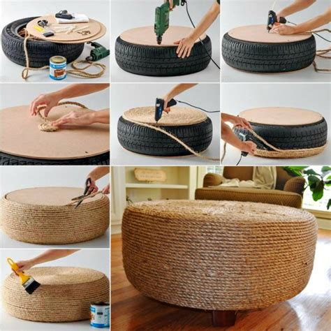 tyre ottoman wonderful diy easy ottoman from plastic bottles