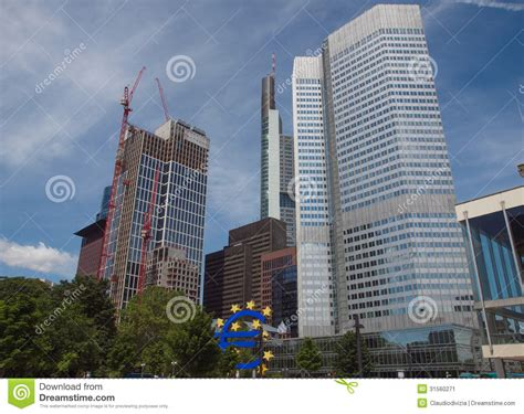 banks germany european central bank in frankfurt stock image image