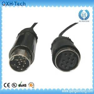 customized round molded mini din 9 pin male to female