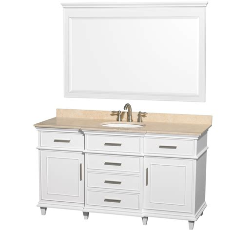 single bathroom vanity cabinets ackley 60 inch white finish single sink bathroom vanity