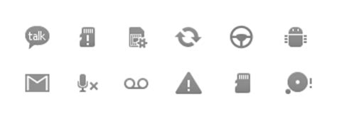 android symbols top bar guide status bar icons android developers