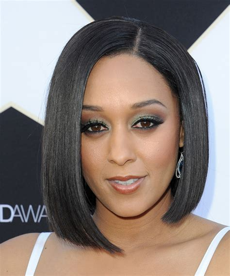 tia haircut 2014 medium tia mowry medium straight formal bob hairstyle