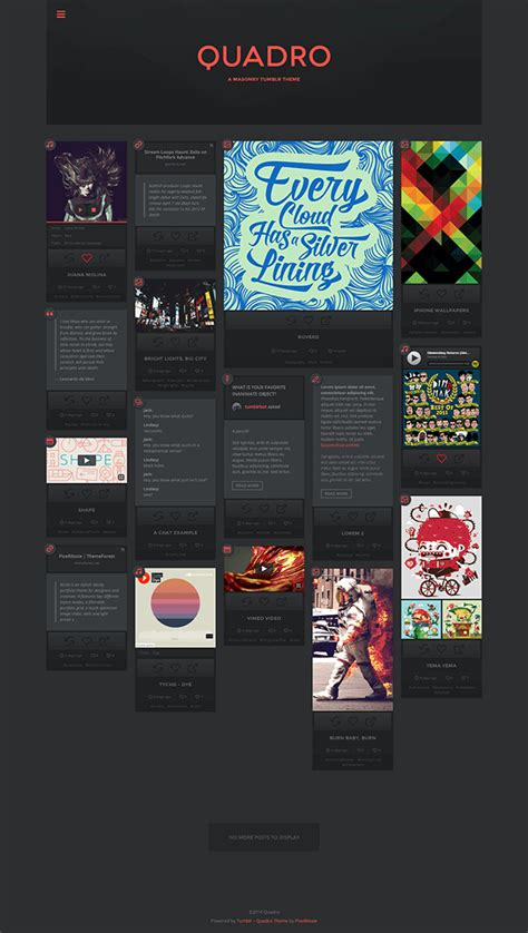 tumblr themes quadro quadro a masonry theme for tumblr tumblr themeforest