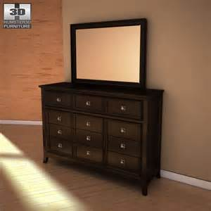 martini suite dresser mirror 3d model humster3d