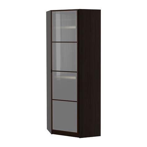 corner wardrobe ikea pax corner wardrobe fevik black brown frosted glass