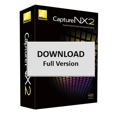 nikon capture nx 2 full photo editing software download