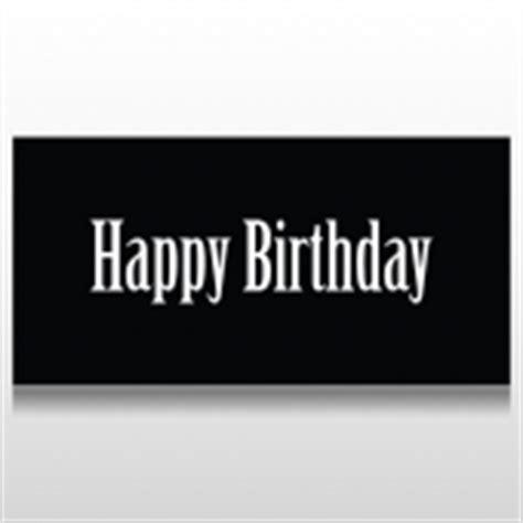 Banner Happy Birthday Black White custom birthday banners the speedysigns