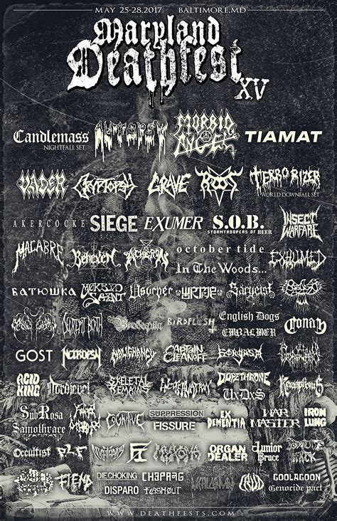 maryland deathfest map chaos descends festival 2017 all metal festivals