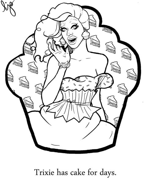 Mattel Coloring Pages the coloring book trixie mattel the of drag