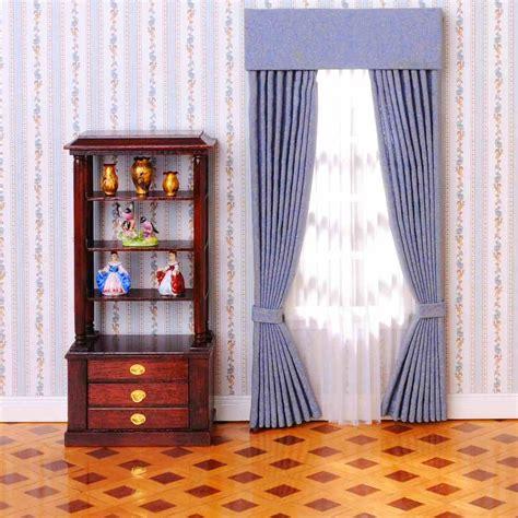 fenster vorhang fenster vorhang dkl blau gemustert 50930