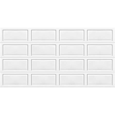 16 X 7 Garage Door Lowes by Shop Wayne Dalton 9100 Series 16 Ft X 7 Ft Insulated White