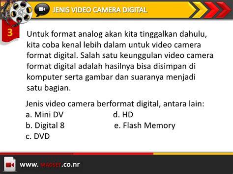 Format Video Analog Adalah | dasar penggunaan video camera