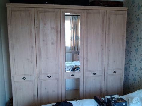 Limed Oak Wardrobe by Alston 5 Door Limed Oak Effect Wardrobe