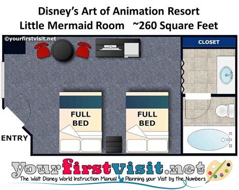disney art of animation family suite floor plan the basics where to stay at walt disney world