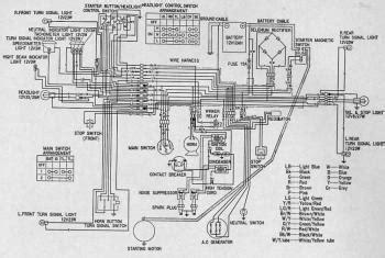 honda sl wiring diagram circuit wiring diagrams