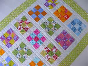 Patch Quilt Blimunda Quilts Nine Patch Baby Quilt Number Three