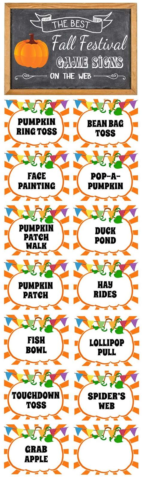 carnival half sheet punch card template fall festival signs free printable signs
