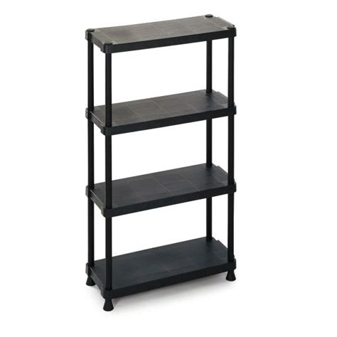 modular outdoor resin 4 shelves unit 75x30x135