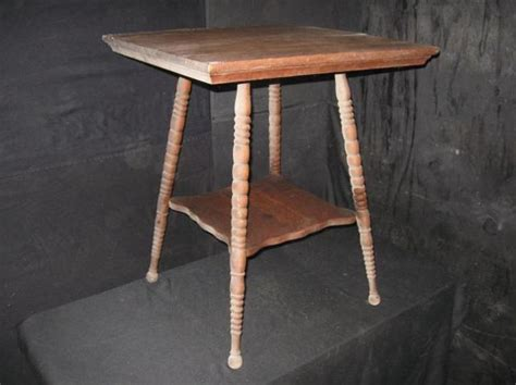 antique side table with spindle legs antique era oak table end table side