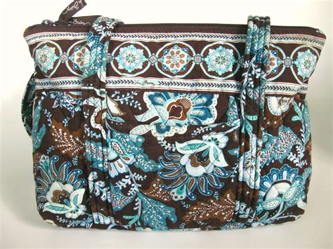 Quilted Purses Vera Bradley by Brown And Blue Vera Bradley Pre Owned Cotton Quilted Purse
