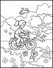 spring coloring pages bike nature free printable coloring pages kids colouring pages