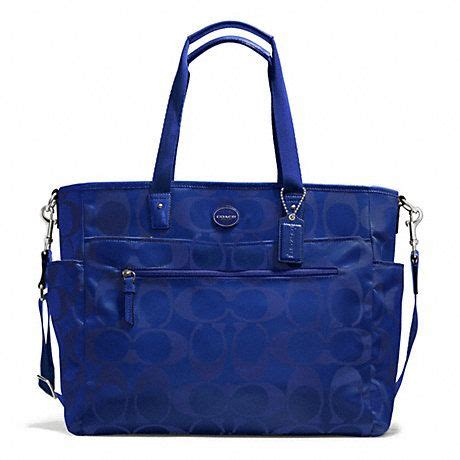 blue handbags blue coach baby bag