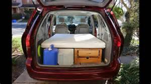 Convert your Minivan into a Camper within few minutes / Part 1   YouTube