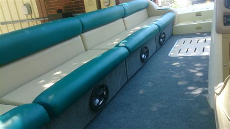 pontoon boat upholstery pontoon boat upholstery grateful threads custom upholstery
