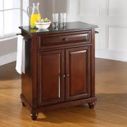 crosley furniture cambridge solid black granite top