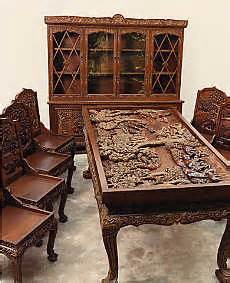 Table Top Cnc Router Hand Carved Vietnamese Furniture Dining Room Set Dining