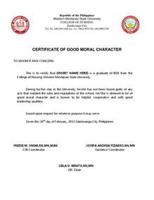 Nycha Certification Letter certificate of good moral character certificate of good
