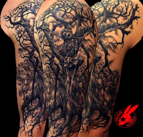 evil tree tattoo designs tree tattoos palm tree of pine tree