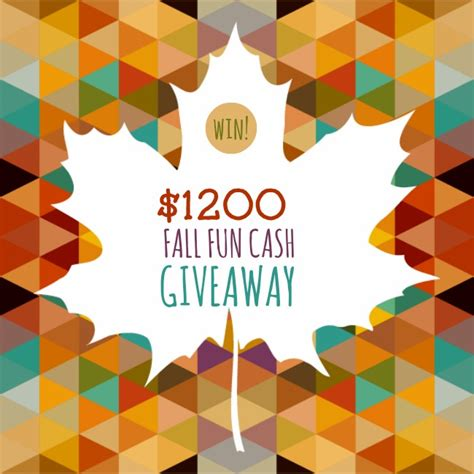 Fun Giveaways - fall fun cash giveaway krystasteen com