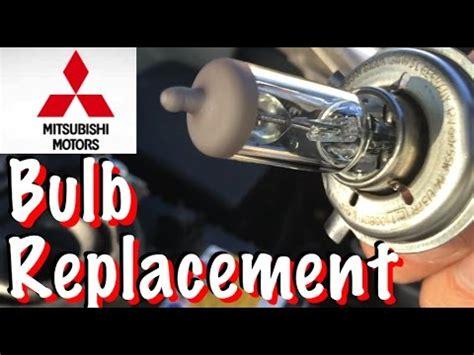 mitsubishi headlight bulb replacement mitsubishi mirage headlight bulb replacement