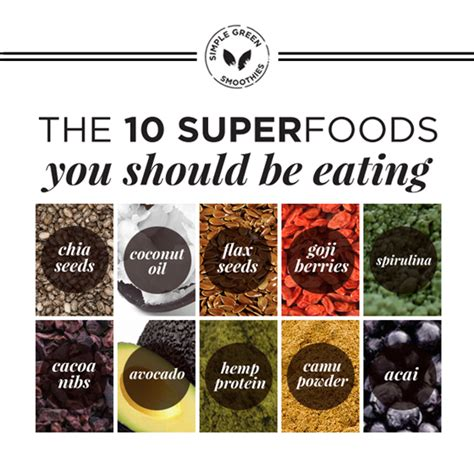 top ten superfoods guide book books 10 green smoothie superfoods you should be simple