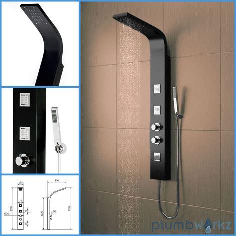 Kepala Jet Shower Bathroom Toilet Shower thermostatic shower panel column tower with jets bathroom shower ebay