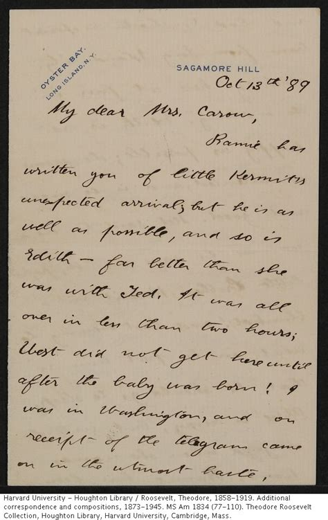 thank you letter to birth parents 187 theodore roosevelt digitized houghton library