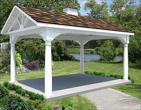 Backyard Creations Steel Roof Gazebo Backyard Creations Roof Style Gazebo Reviews 28 Images