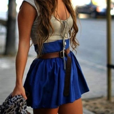 skirt blue skirt shirt tank top clothes