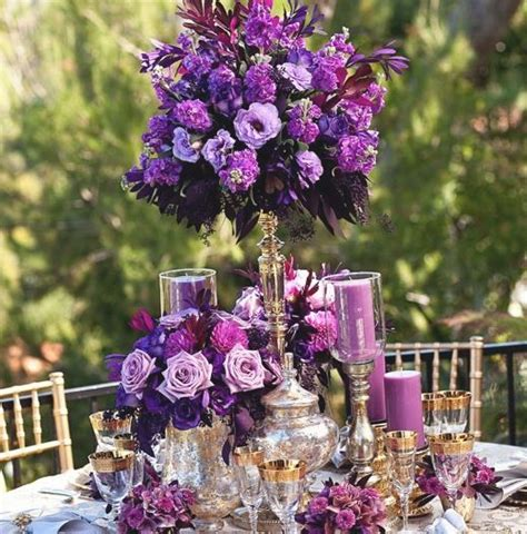 purple flower arrangements centerpieces purple reception wedding flowers wedding decor purple