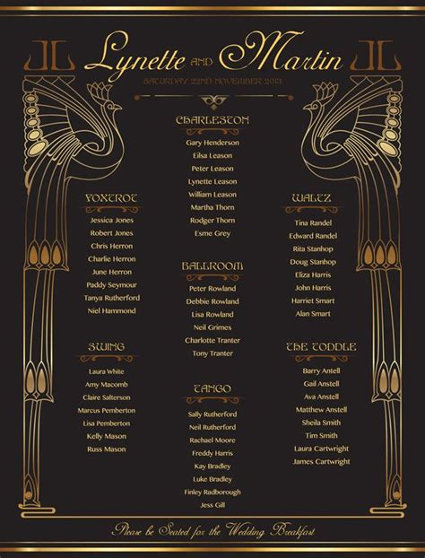 gold themed names 40 best gold themed wedding seating plans images on