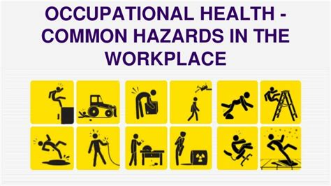 Occupational Hazard by Occupational Health Common Hazards In The Workplace