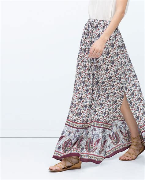 Zara Emboss Skirt image 3 of printed skirt from zara clothes and shoes zara fashion