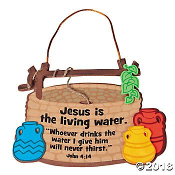 jesus is the living water woman at the well jesus is the living water sign craft kit oriental trading